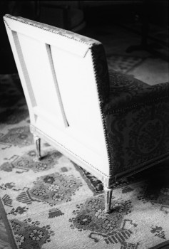 back of an armchair